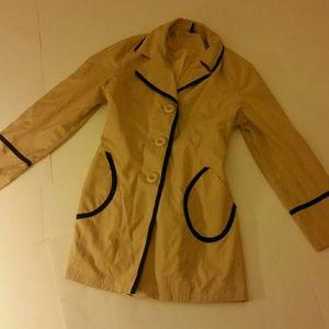 AMBITION Women's Jacket Button Up Coat L